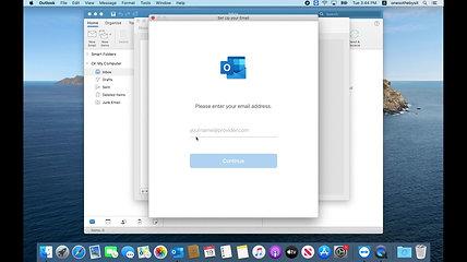 Email Setup on Outlook Desktop Mac