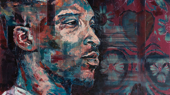 Hannah Shergold paints Ashley Walters for Sky Arts Portrait Artist of the Year