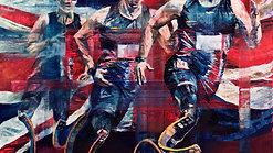 """I AM... still moving - Keep running"", oil on canvas, 90 x 90 cm - #InvictusGames #HannahShergold"