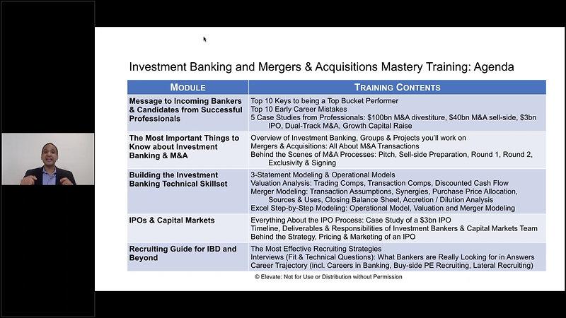 IBD Module 00 - 03 - Agenda & Training Overview