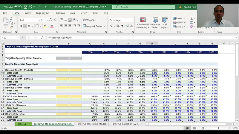 IBD Module 03 - 06P - Income Statement Projections - Excel Model Step-by-Step