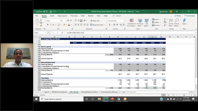 32P: Calculating Sponsor Returns (IRR & MOIC)