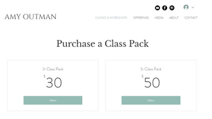Purchasing a Class Pack