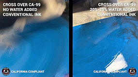 Cross Over CA-99 vs. Conventional Ink