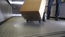Self Supporting Handtruck on OMNIA wheels.