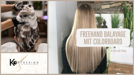 Freehand Balayage mit Colorboard