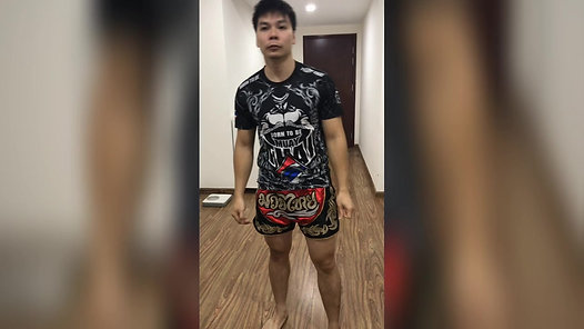 Solo Muay Thai Training at Home