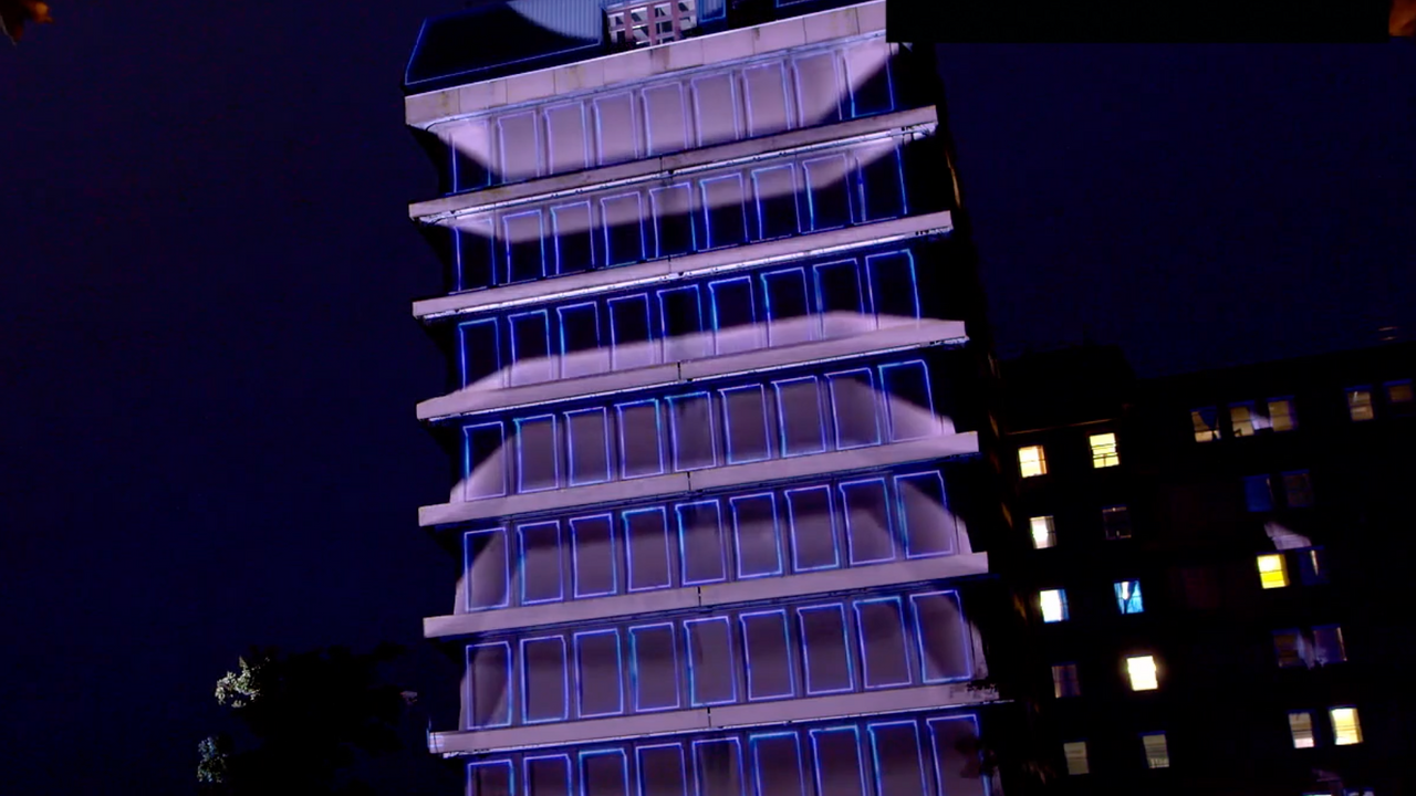 Gloucester NHS - Evenlode Films Projection Mapping Animation - Video Production Company UK