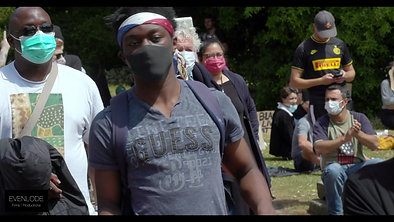 Evenlode Films and Productions:  Black Lives Matter Cheltenam 2020 Pitville Park