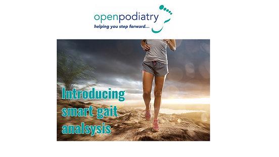 PodoSmart at Open Podiatry - smart gait analysis