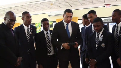 JCRobotics visit PM Holness
