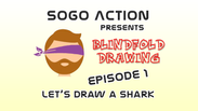 Blindfold Drawing: Ep 1 - Let's Draw a Shark