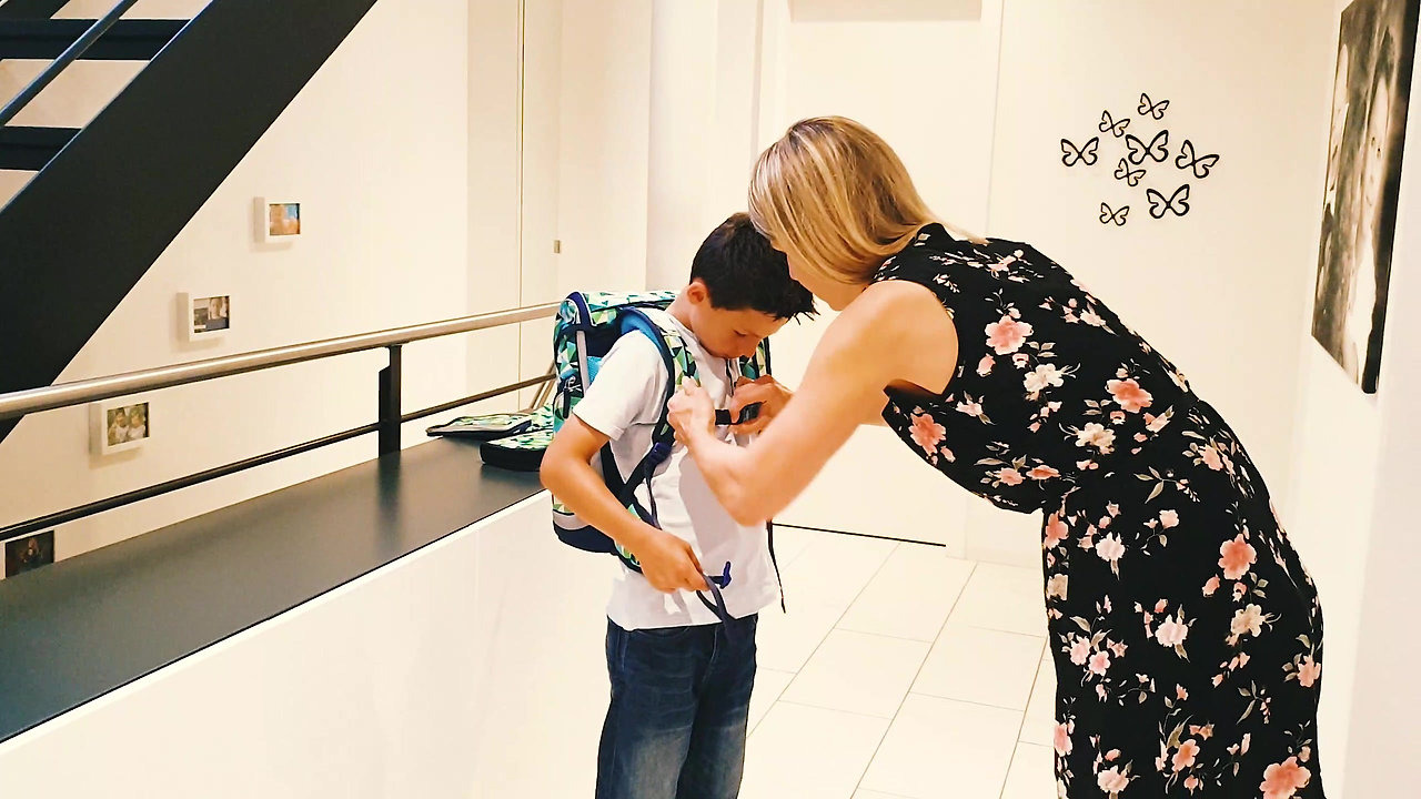Nicht vergessen: Schulsack sauber anpassen!