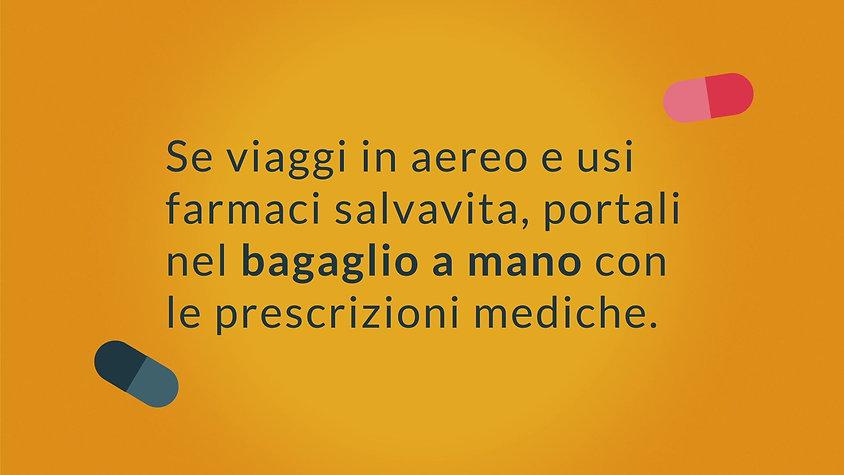 farmaci in viaggio