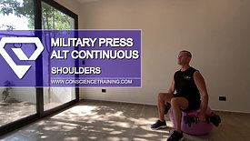 Military press alter continuous