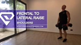 Frontal to Lateral Raise