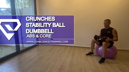 Crunches Stability ball Dumbbell