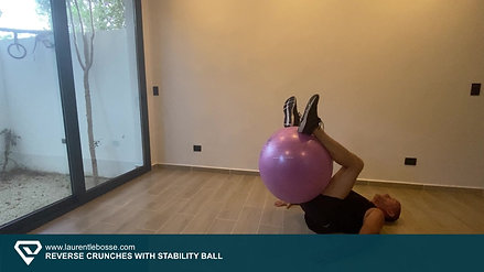 Reverse Crunches with Stability Ball