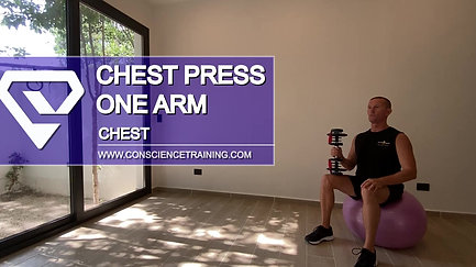 Chest press one arm
