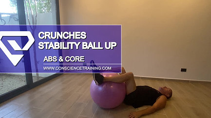 Crunches Stability ball up