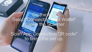 3 How to Connect cold wallet to App - W1 Gold Wallet Video Instruction