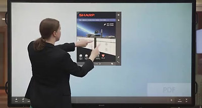 Dynamic presentations with the Sharp Aquos Boards