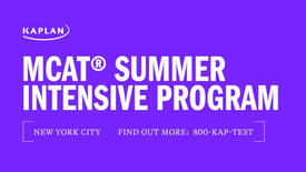 MCAT Summer Intensive Program