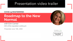 60-second TRAILER for: Covid-19 lessons learned and the roadmap to the new normal