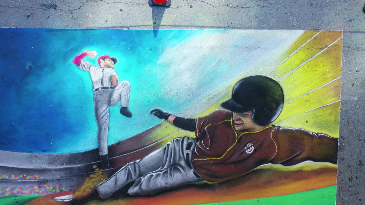 McFarlane Promotions coordinates Padres Chalk Art for Opening Weekend