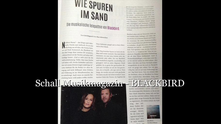 BLACKBIRD- SCHALL - Musikmagazin