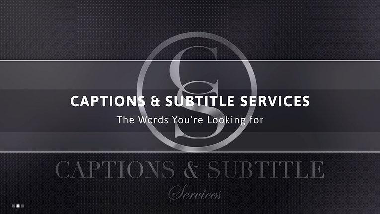 Caption and Subtitle Services Promo