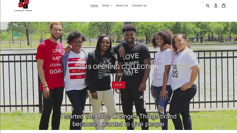 Love Changes Things T-Shirt Promo