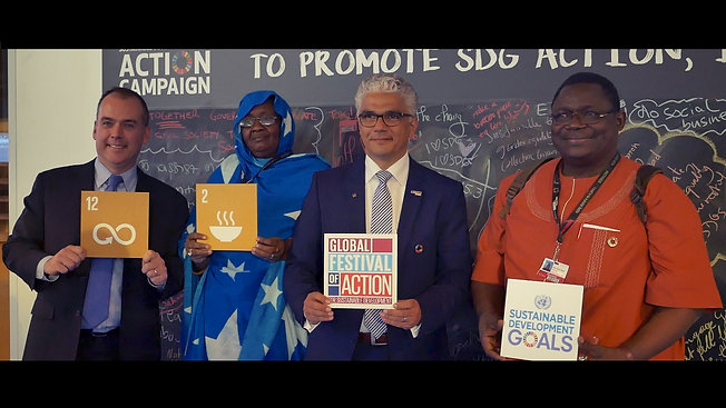Global Festival of Action with Mayor Ashok Sridharan from Bonn
