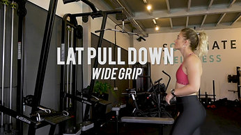 Lat Pull Down - Wide Grip