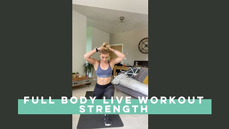 Live workout Full Body Strength