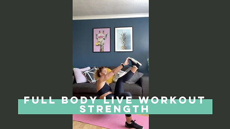Live Full Body Workout Strength