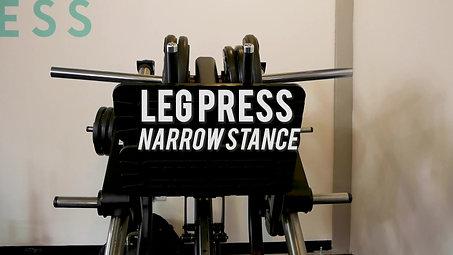 Leg Press - Narrow Stance