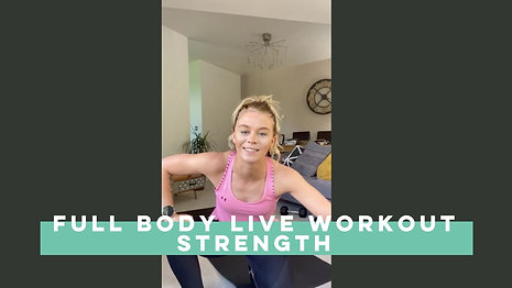 Live Full Body Strength Workout