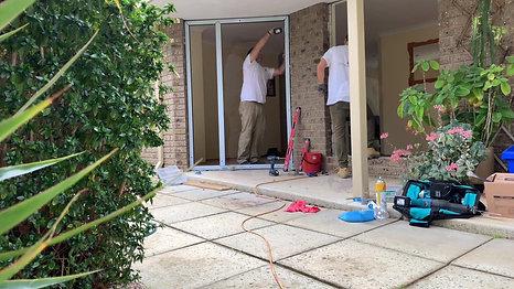 GaBe Double Glazing - Entrance door installation
