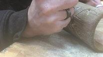 Engraving Candle Decor