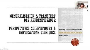 Généralisation et transfert des apprentissages