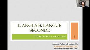 Anglais, langue seconde et troubles d'apprentissage (24mars20)