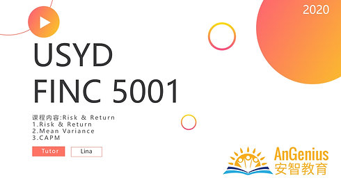 FINC5001 Risk&Return: CAMP-期末复习