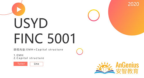 FINC5001 EMH: Capital Structure-期末复习