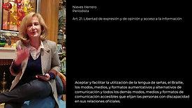 Lectura de la Convención de los Derechos de las Personas con Discapacidad de la ONU Capítulo 1