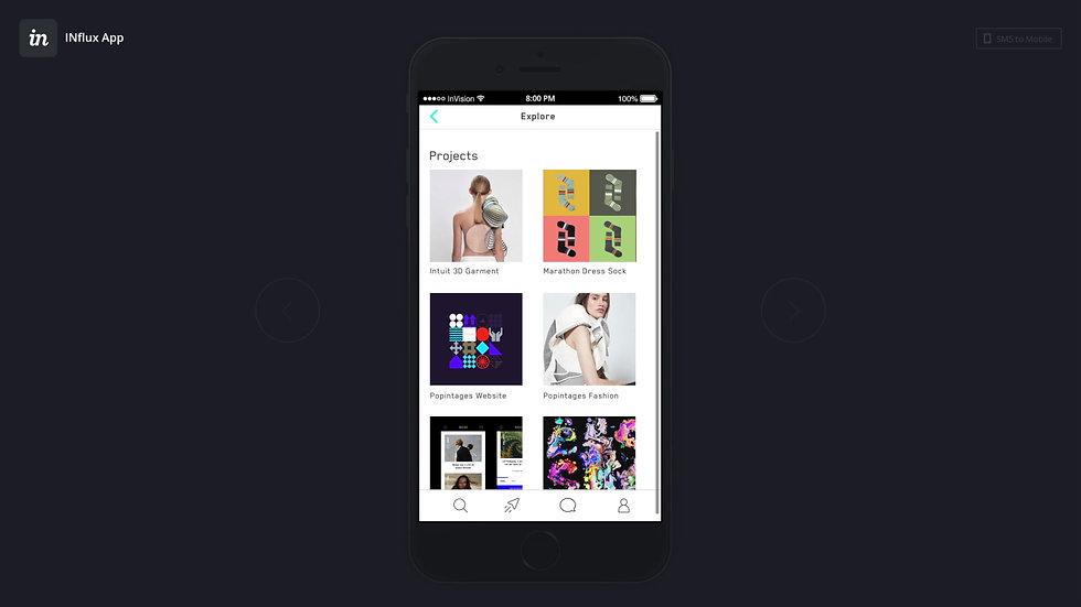 Influx App Prototype