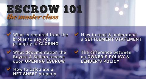 Escrow 101 Class Video