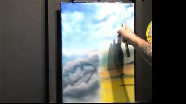 Vidéo technique façon Bob Ross (les ciels et les montagne)