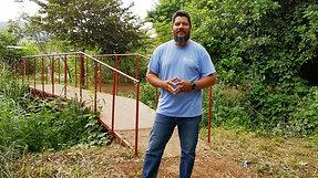 Guillermo at The Bridge of Reconciliation