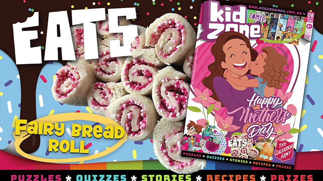 Kz Fairy Bread Roll